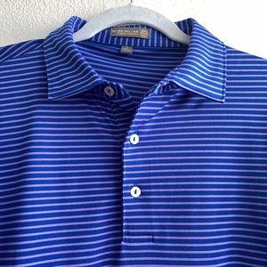 Peter Millar Summer Comfort Blue Striped Golf Polo